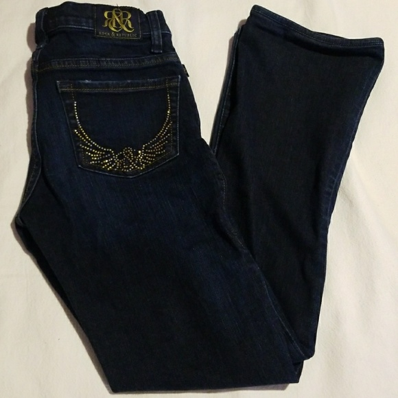 Rock & Republic Denim - Rock & Republic bling pocket jeans